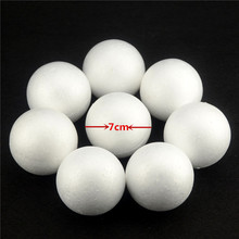 Hot 10PCS/Lot 70MM Modelling Polystyrene Styrofoam Foam Ball White Craft Balls For DIY Christmas Party Decoration Supplies Gifts