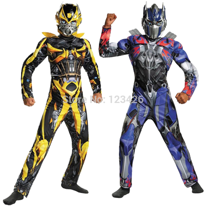 Child Boys Optimus Prime Bumblebee Cos Clothes Set<br>