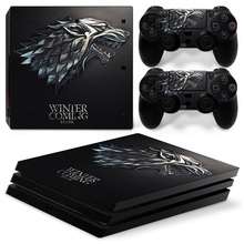 Game of Vinyl Decal PS4 Pro Skin Stickers for Sony PlayStation 4 Pro Console and 2 Controllers Decorative Skins