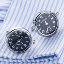 New Arrival Real Watch Cufflinks VAGULA Clock Cuff links With Battery tourbill Machine Core Mechanical Gemelos(China)