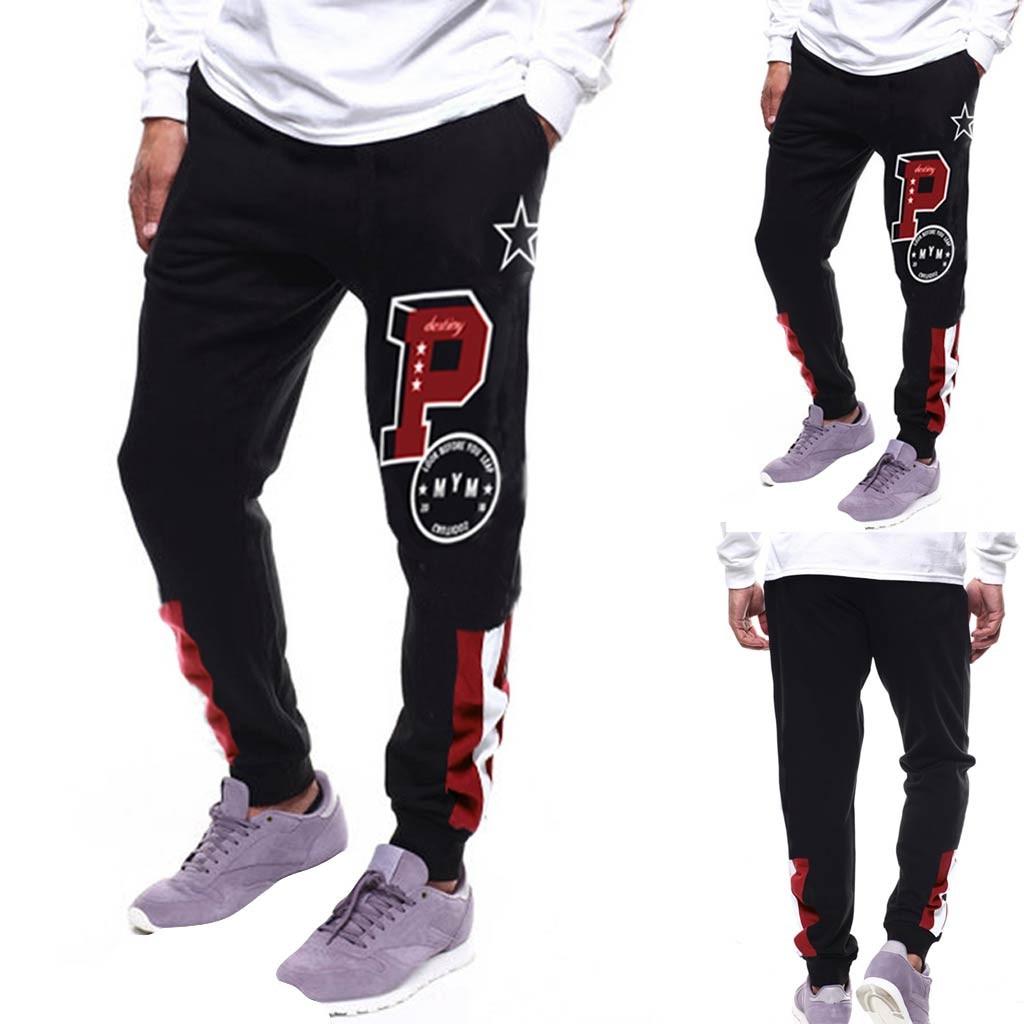 Men Pants Fashion Pocket Sport Sweatpants Loose fit Trousers