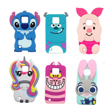 X Cam K580DS Cute Rabbit Soft Case For LG X CAM K580 K580DS 5.2 inch Cover Stitch Sulley Horse Cat Phone Bags(China)