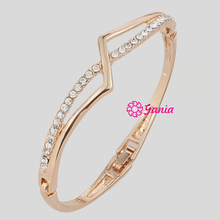 High Quality High Crystal Hinged Bangles, Crystal Rhinestone Geometry Bracelet Bangle for Women Watch Decoration