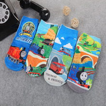4pairs / a lot of cotton  Baby Socks novelty  toddle calcetines children's cartoon boy girl Thomas 3D print brand Socks