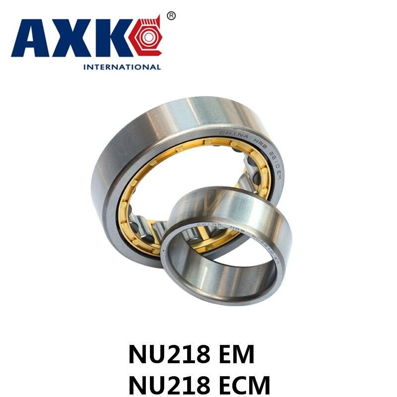Axk Nu218 Em Or Nu218ecm (90x160x30mm)brass Cage Cylindrical Roller Bearings Abec-1,p0<br>