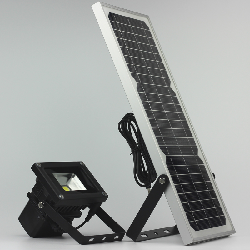10W Solar Light Led Flood Garden Landscape Night Solar Powered Lamp Outdoor Wall Supplement Lamp Ip65 Waterproof<br>