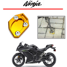 Sale Kickstand Foot Side Stand Extension Pad Support Plate For KAWASAKI Ninja 250 300 EX250 EX300 ZX250R ZX300R 2013 2014 2015