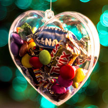 5Pcs Christmas Decoration Clear Balls Transparent Bauble Xmas Ornament Heart Shape Romantic Tree Window Wedding Gift Wholesale