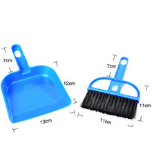 2017 product 1PC Mini Desktop Sweep Cleaning Brush Small Broom Dustpan Set high quality cleaning dining Pennello di Pulizia(China)