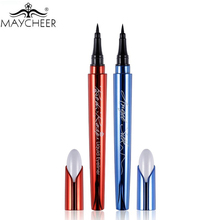 MAYCHEER Brand Makeup Silk Black Liquid Eyeliner Pencil Waterproof Longlasting Quick Dry Vitamin E Eye Liner Pen Make Up