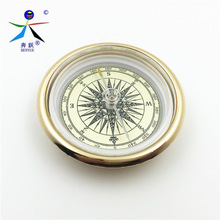 Mini Military Camping Marching Lensatic Compass Magnifier Gold Wild Survival Navigation High Quality(China)