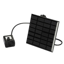 Hot 7V 1.2W Solar Power Fountain Water Pump Panel Kit Pool Home Garden Fish Pond(China)
