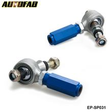 AUTOFAB-2pc Rear Suspension Adjustable Outer Tie Rod End Arm for 240sx 95-98 S14 Blue EP-SP031