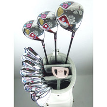 New womens Golf clubs Maruman FL Golf complete set of clubs driver+fairway wood+irons+putter Graphite Golf shaft Free shipping