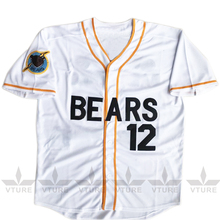VTURE Stitched Bad News Bears #12 Tanner Boyle Movie White Baseball jersey W S-2XL Free Shipping(China)