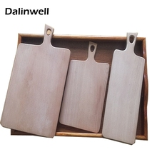 100% Beech Wood Paddle Bread Cutting Chopping Board Set Kitchen Accessories For Food Prep Making Cocktails Serving Appetizers