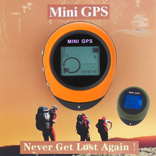 PG03 Mini GPS Receiver Navigation Outdoor Handheld Location Finder USB Rechargeable with Compass for Outdoor Sport Travel