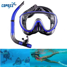 Copozz 17x9.5cm Scuba Swimming Mask Anti-Fog Half-Dry Snorkel Goggles Diving Glasses Water Sports Equipment
