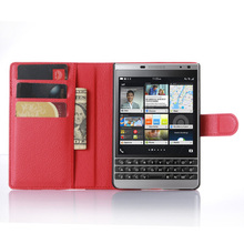 Wallet Style Leather Case For Blackberry Passport Silver Edition New Cover with Card Slot Stander