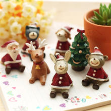 Brand New Handmade Creative Santa Claus Christmas Elk Dog Rabbit Craft Ornaments Merry Christmas Tree Decoration Children Gifts