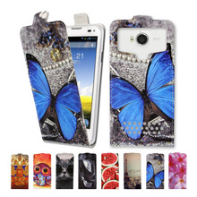 Luxury high-grade printed butterfly universal flip leather phone case for DEXP Ixion MS250 Sky,free gift-SX03