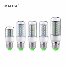 1Pcs Ultra Brighter E27 220V LED lamp 30 36 48 56 69 LEDs Corn Bulb Replace 7W 12W 15W 20W 25W Compact Fluorescent Light CFL ESL(China)