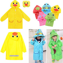Cute Waterproof Kids Rain Coat Boys Girls Rainwear Cartoon Animal Raincoat for Children Unisex Student Poncho Rain Coat Jacket(China)