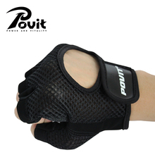 POVIT 1Pair Body Building Fitness Gloves Sports Training Weightlifting Gloves For Women/Men Crossfit Dumbbell Exercise Gym Glove(China)