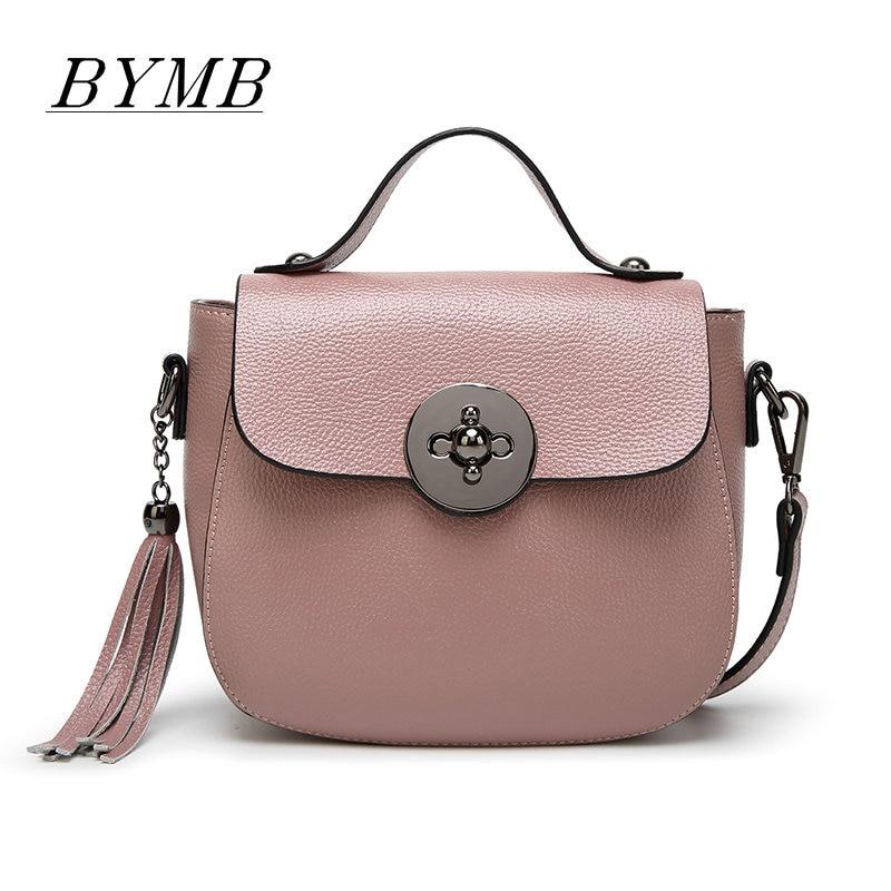 In 2017, Brand genuine leather Saddle bag women shoulder bag female pattern hobos bag with tassel women handbag<br>