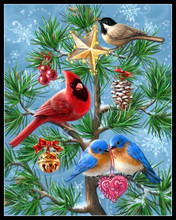 diy 5d diamond painting cross stitch animal bird Christmas home decor 100% square drill full 3d diamond embroidery wall art