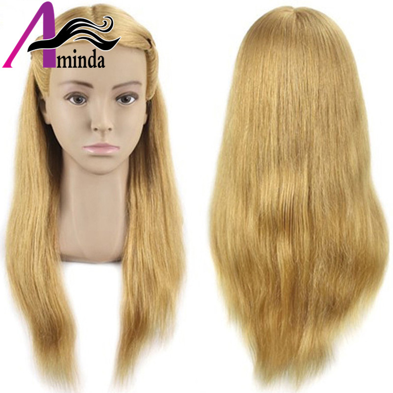 Salon Mannequin Head Practice Head Training Head For Barber HairStyles Doll Hairdressing Cosmetology Styling Manikin Head with Clamp (23)