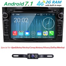 "2G RAM Black HD 2 din 7"" Car DVD Player for Opel Vectra Antara Zafira Corsa Meriva Astra With Bluetooth IPOD TV Radio/RDS AUX IN"