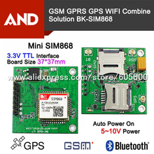 SIM868 GSM GPRS GPS BT CELLULAR MODULE,MINI SIM868 board SIM868 breakout board,instead of SIM808 free shipping 1pc(China)