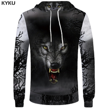 Buy KYKU Wolf Sweatshirts Women Animal Hoodie Long Sleeve Hooded Sweatshirt 3d Hoodies Womens Clothing Autumn Winter 2018 New for $14.92 in AliExpress store