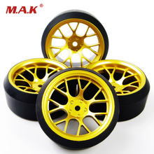 4Pcs/Set 12 mm Hex RC Drift Tires Tyre & Wheel Rim Set DHG+PP0370 Fit HSP HPI 1:10 On-Road Model Car Toys Parts Accessories(China)