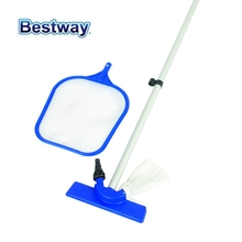 "58013 Bestway 2.03m Special Cleaning Set for Swimming Pool 80"" Maintenance Kit:Clean Cast Skimmer+Al Broom Pole for Pool(China)"