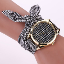 2017 Fashion Bow Tie Fabric Ladies Wrist Watch Women Quartz Bracelet Watch watch relojes mujer bayan kol saati horloges vrouwen