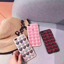 3 Color Phone Cover Fashion South Korea Small Fresh Pink 3D Love Soft Tpu Case for iphone 6 iphone6 6s 4.7 INCH Case 621(China)