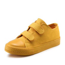 Kids Canvas Causal Shoes Solid Color Breathable Comfort Boys Ankle Sneaker Rubber Bottom Soft Children School Shoes Girls(China)