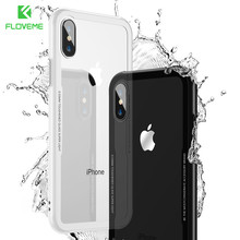 Buy FLOVEME Tempered Glass Phone Case iPhone X Case iPhone 7 8 Plus Case Silicone Soft Frame Hard Back Cover Shockproof Capa for $3.99 in AliExpress store