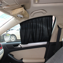 2 PCS 50*39CM Universal Car Window Curtain Sunshade UV Proof Side Window Sun Shield Curtain Car-styling(China)