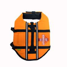 Practical Size Small Hound Pet Saver Dog Life Jacket Vest Night Reflective Orange