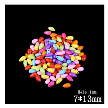 7*13mm Multi Color Acrylic Tear Drop Beads 120pcs/Lot Wholesale Clear Plastic European Bead With Hole For Kid DIY Jewelry Making