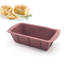 8-inch Silicone Mold / Loaf Pan for Soap and Bread (Red Green)