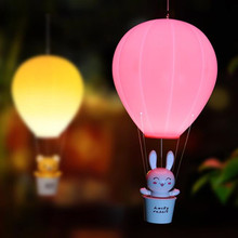 Balloon Design LED Chandelier Lantern Lamps Remote Control & Touch Sensor LED Chandelier Lighting Night Lamp for Kids(China)