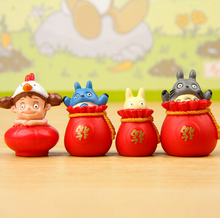 1Pcs/set Cute Ghibli Miyazaki Happy New Year Version of The Blessing Toroto PVC Action Figure Toys Collection Model Toy Gifts