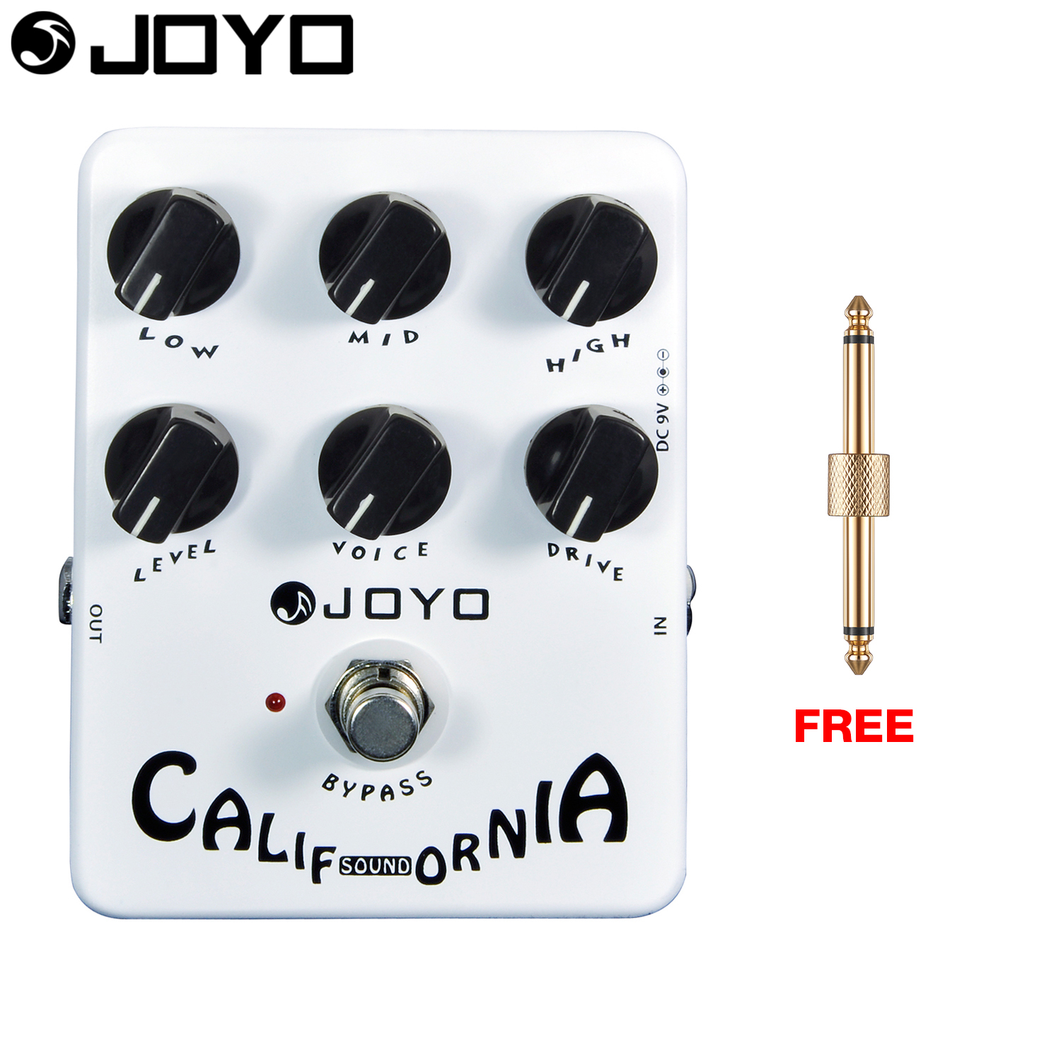 JOYO California Sound Distortion Electric Guitar Effect Pedal Models Amp Roar True Bypass JF-15 with Free Connector<br>