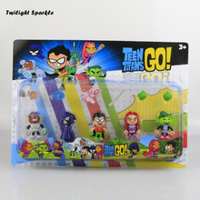 5pcs/set Teen Titans GO 5cm action figure toys with weapons high quality PVC anime Rare Collection child's gift