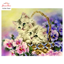 DIY 5D full Diamond Mosaic Diamond Painting Cross Stitch Animal cat Kit Diamonds Embroidery Square Drill Home Decoration