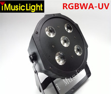 8pcs/lot  5*18W RGBWA+UV 6in1 LED Par Cans DJ Par LED Wash Disco Light DMX Controller Free Shipping